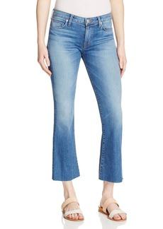 Hudson Crop Flare Jeans in Carve