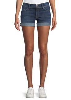 Hudson Jeans Croxley Mid-Rise Denim Shorts with Flap Pocket