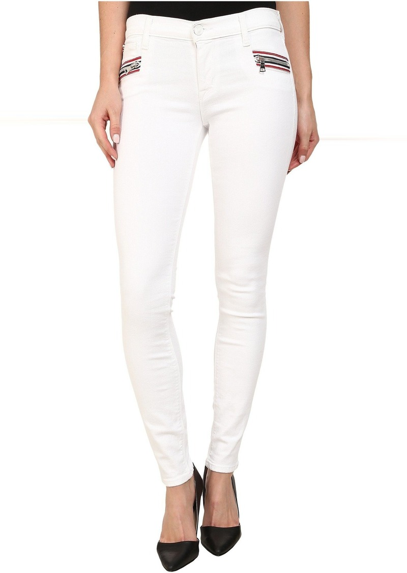 Hudson Jeans Hudson Custom Chimera Zipper Super Skinny Jeans in White 2