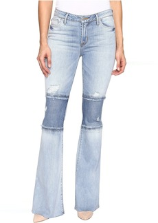 Hudson Jeans Hudson Custom Mia Five-Pocket Mid-Rise Flare Raw Hem in Royal Delta