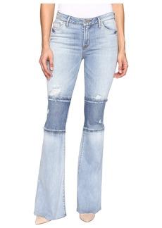 Hudson Jeans Hudson Custom Mia Five-Pocket Mid-Rise Flare Raw Hem in Royal Delta