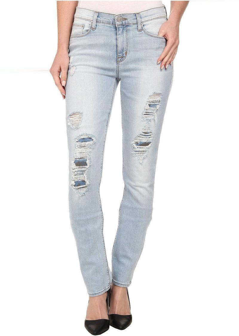 Hudson Jeans Hudson Custom Shine Mid Rise Skinny Jeans in Alley Cat