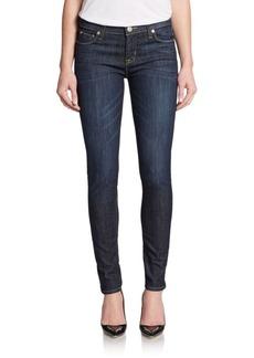 Hudson Dark Wash Super-Skinny Jeans