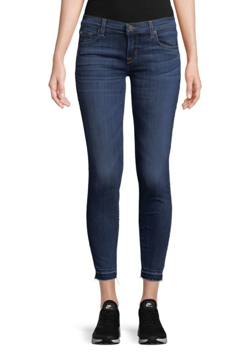 Hudson Jeans Distressed Cropped Jeans