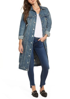 Hudson Distressed Denim Duster