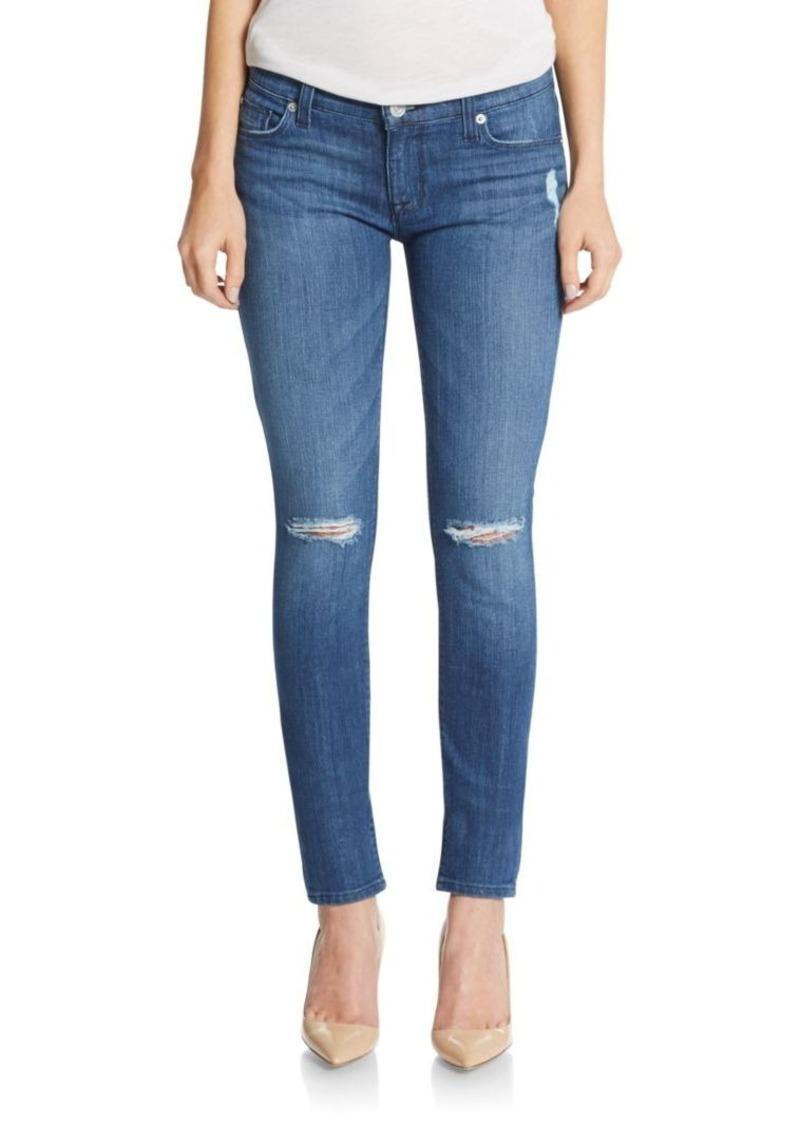 Hudson Jeans Hudson Distressed Super Skinny Jeans