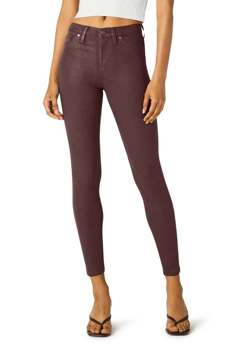 Hudson Jeans Hudson Double Coated Skinny Ankle Jeans in High Shine Brick