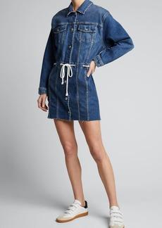 Hudson Jeans Hudson Drawstring Grommet Denim Dress