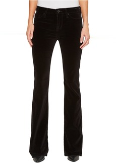 Hudson Drew Mid-Rise Bootcut Velvet Jeans in Black Star