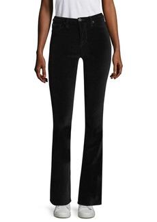 Hudson Jeans Drew Mid-Rise Velvet Bootcut Pants