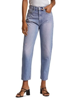 Hudson Jeans Hudson Elly Extreme High-Waist Cropped Straight Jeans in Illuminate