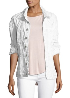 Hudson Jeans Emmet Long-Sleeve Destroyed Boyfriend Jacket