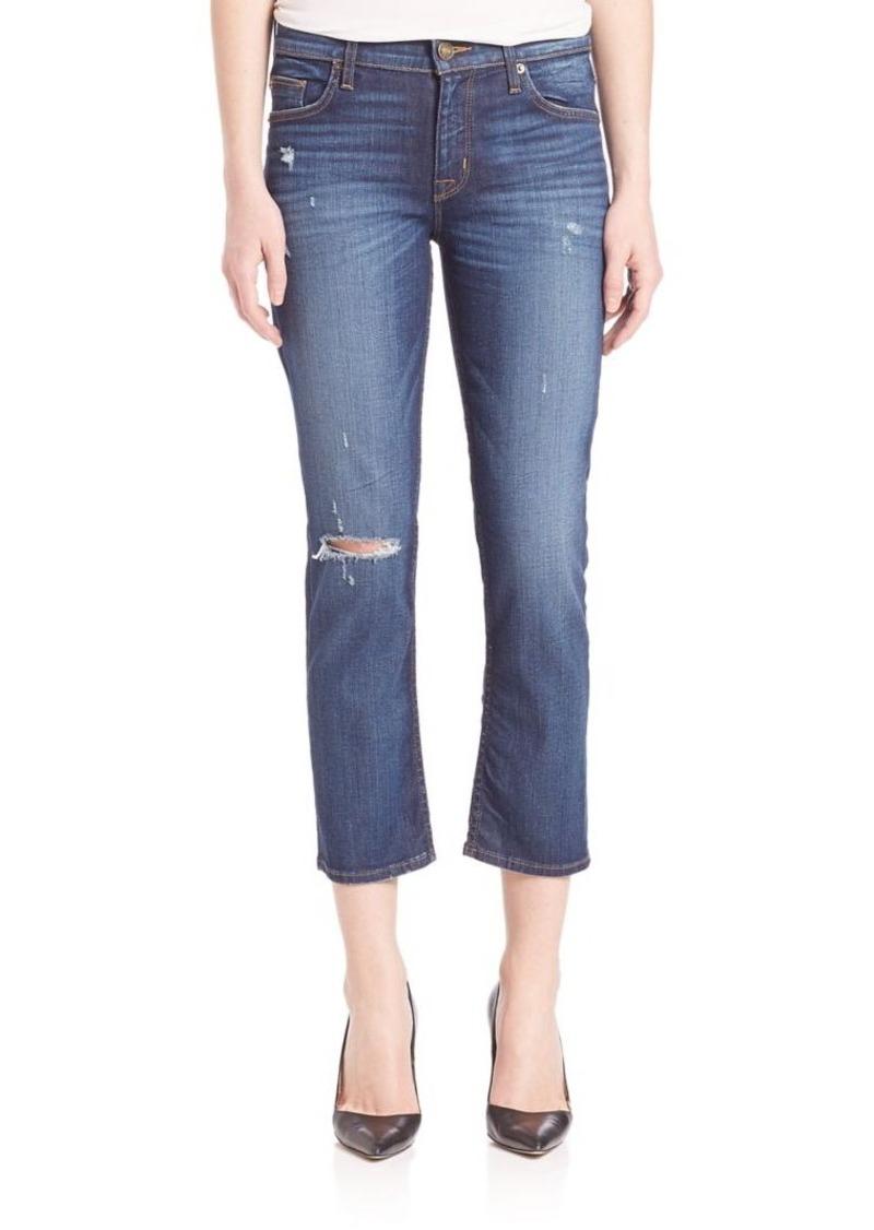 Hudson Jeans Hudson Fallon Distressed Cropped Jeans