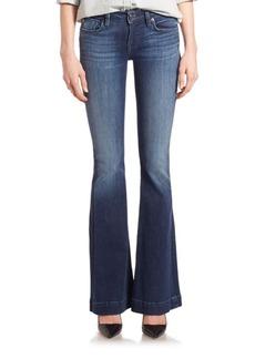 Hudson Ferris Flap-Pocket Flared Jeans