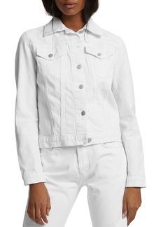 Hudson Jeans Hudson Fitted Denim Trucker Jacket in White