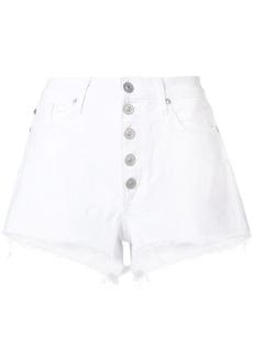 Hudson Jeans Hudson frayed Hudson denim shorts - White