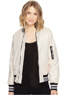 Hudson Jeans Hudson Gene Puffy Bomber in Metallic Sunset