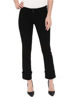 Hudson Ginny Crop Stratight with Cuff in Black