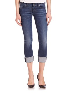 Hudson Ginny Rolled Cropped Jeans