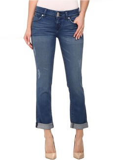 Hudson Ginny Straight Ankle Jeans w/ Cuff in Angeltown