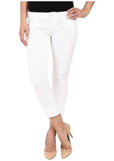 Hudson Ginny Straight Crop w/ Cuff in White
