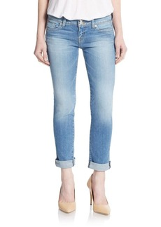 Hudson Ginny Roll-Up Straight-Leg Jeans