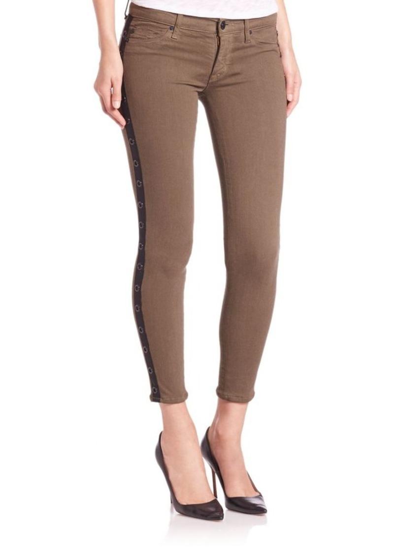 e14ee4096e1 Hudson Jeans Hudson Gromet Embellished Tuxedo-Stripe Skinny Jeans ...