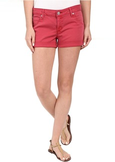 Hudson Jeans Hampton Cuffed Shorts in Red Stone