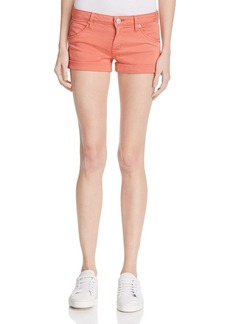 Hudson Hampton Rolled Shorts in California Poppy