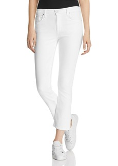 Hudson Harper High Rise Baby Kick Flare Jeans in White