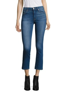 Hudson Jeans Harper Ombré High-Rise Cropped Flared Jeans