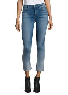 Hudson Harper Ombré High-Rise Cropped Flared Jeans