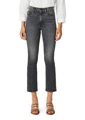 Hudson Jeans Hudson High Rise Cropped Bootcut Jeans in Black Lightning
