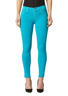 Hudson Jeans Hudson High Rise Cropped Skinny Jeans in Blue Daisy
