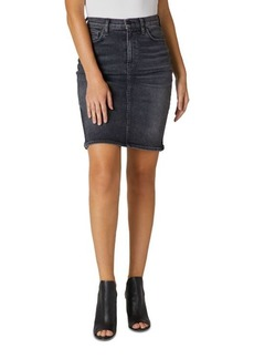 Hudson Jeans Hudson High Rise Denim Skirt in Ghosts