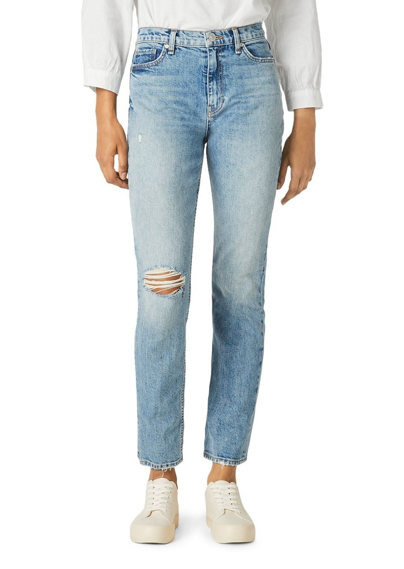 Hudson Jeans Hudson High Rise Straight Ankle Jeans in All Or Nothing