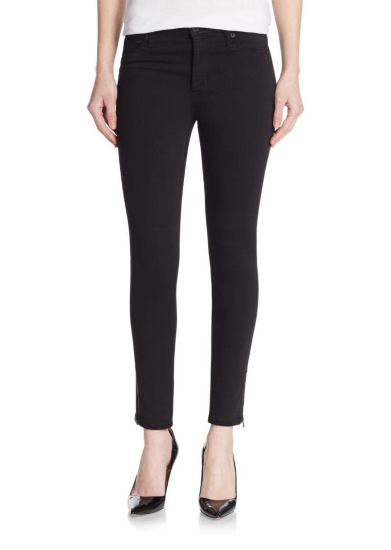 Hudson Jeans Hudson High-Waist Super-Skinny Side Stripe Jeans