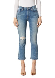 Hudson Jeans Hudson Holly High-Rise Crop Flare Jeans in Colossal