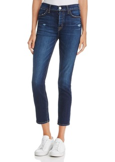 Hudson Holly High-Rise Cropped Skinny Jeans in Corrupt