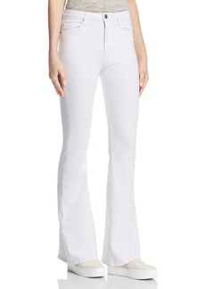 Hudson Jeans Hudson Holly High Rise Flare Jeans in White