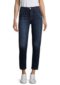 Hudson Holly High-Rise Tonal Skinny Jeans