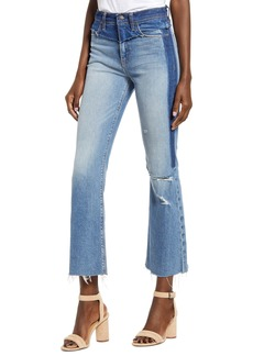 Hudson Jeans Hudson Holly High Waist Distressed Deconstructed Crop Flare Jeans (Interval)