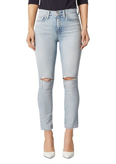 Hudson Jeans Hudson Holly Ripped Straight Jeans in Destructed Wash Out