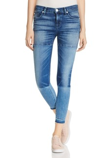 Hudson Isla Panelled Mid Rise Skinny Jeans in High Marks