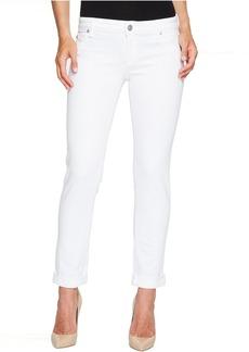 Hudson Jeans Hudson Jax Boyfriend Skinny Flap Pocket Jeans in White