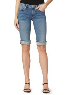 Hudson Jeans Amelia Cuff Denim Bermuda Shorts (Freedom)