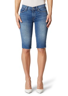 Hudson Jeans Amelia Cutoff Knee Denim Shorts (True Colors)