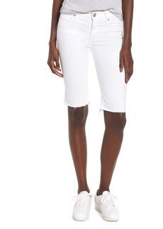 Hudson Jeans Amelia Cutoff Knee Shorts (Optical White)