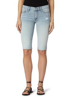 Hudson Jeans Amelia Knee Length Cutoff Denim Shorts (New Dawn)