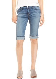 Hudson Jeans Amelia Rolled Knee Shorts (Blue Moon)
